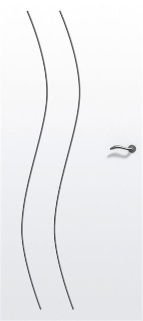 Porte alvéolaire gravée River - pré-peinte - 204x83 cm - usinage pour châssis coulissant