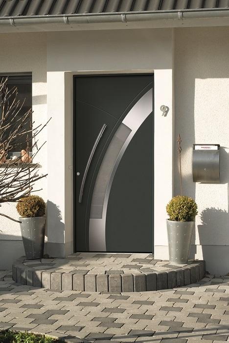 Porte d'entrée couleur anthracite
