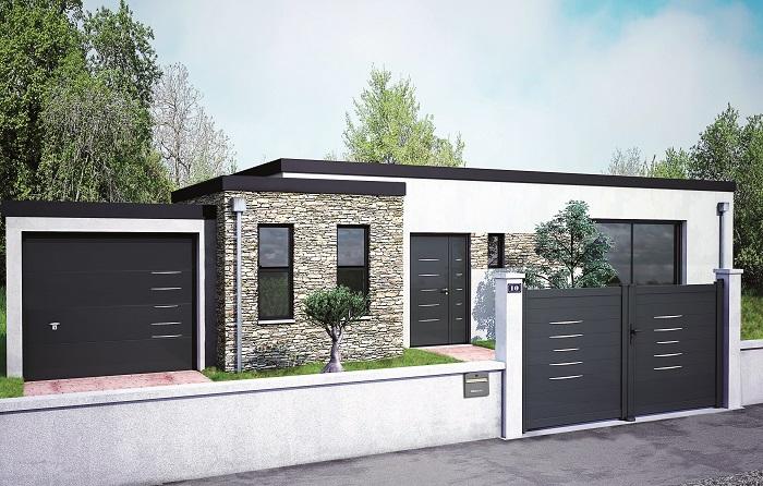 Porte garage, porte d'entrée et portail coordonnés